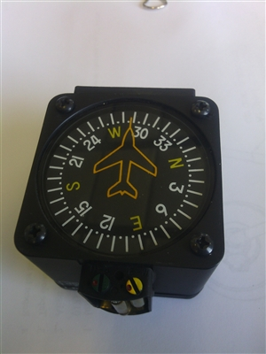 Something is. swinging vertical card compass